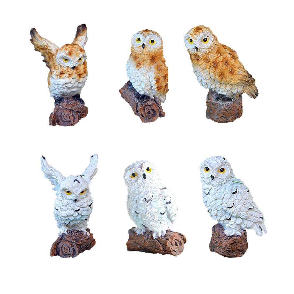 Hot Selling Gardening Micro-Landscape Mini Simulated Owl Small Ornaments