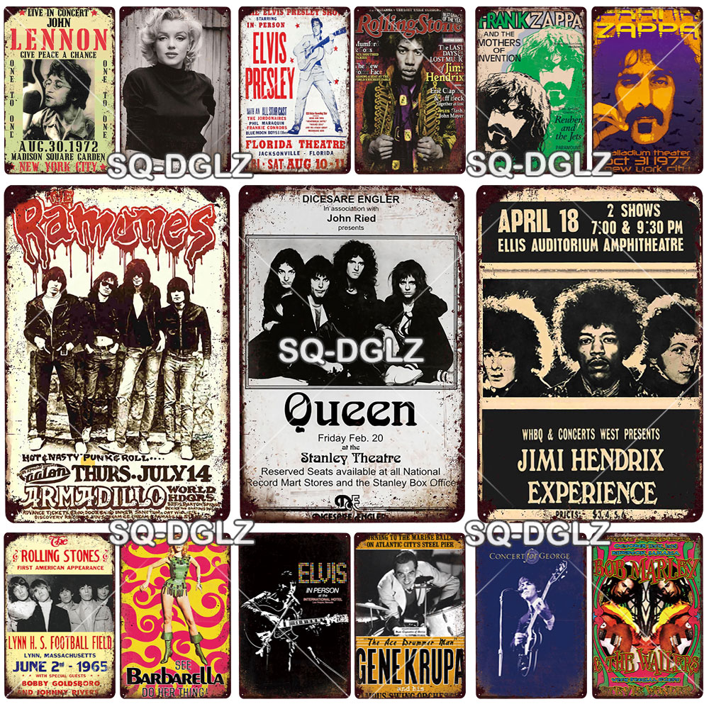 Banda de rock pós metal placa de metal vintage estanho sinal de metal poster decoração da parede fo bar pub homem caverna placa decorativa cerveja cartaz