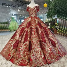 Off Shoulder Burgundy Ball Gowns Quinceanera Dresses 2020 Real Photos Puffy Corset Sequin Event Prom Party for Sweet 15 16 Girls