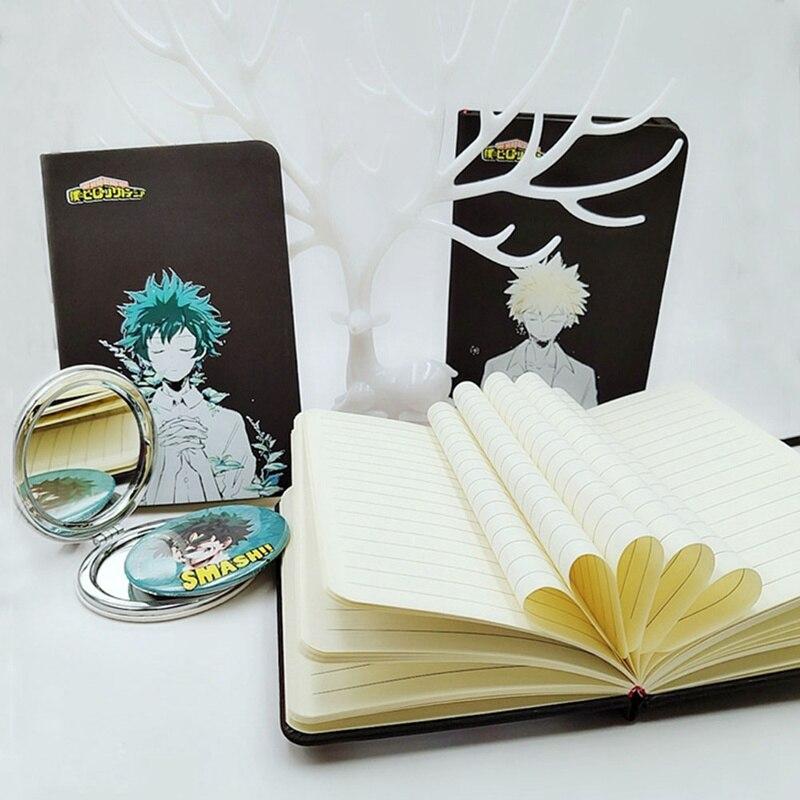 Anime My Hero Academia Midoriya Izuku Bakugou Katsuki Notebook Notepad Student Memorial Gift Diary Birthday Gift
