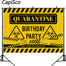 Capisco הסגר יום הולדת רקע זהירות סימן צילום רקע אתה לא מסיבה הוזמנה תמונה סטודיו אבזרי תא