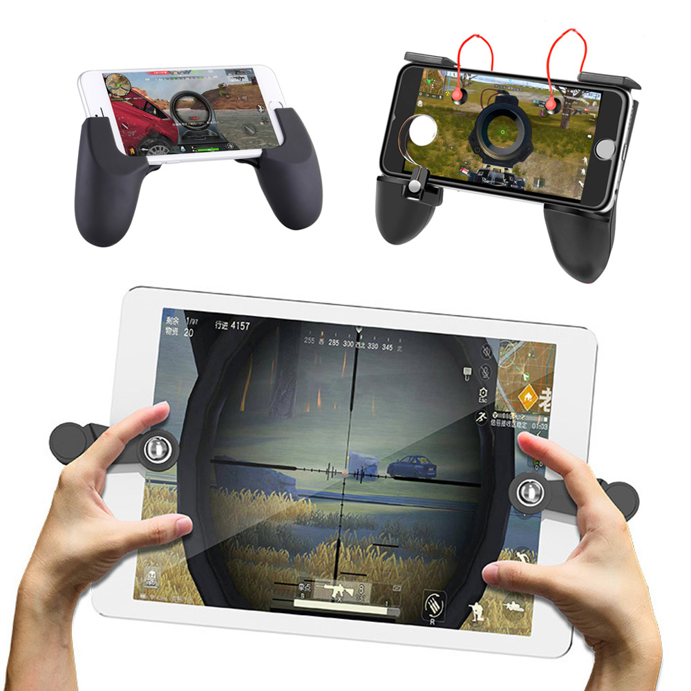 Universal Phone Game Handle Pad Clamp Clip Mount Holder Joystick Fire Button Auxiliary Key For Controller Games Shooting Trigger