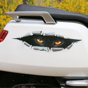 Image 4 - BEMOST تصفيف السيارة مضحك ملصقات مقاومة للماء سيارة ثلاثية الأبعاد عيون Peeking ملصقات Voyeur السيارات الجسم دراجة نارية مائي اكسسوارات السيارات
