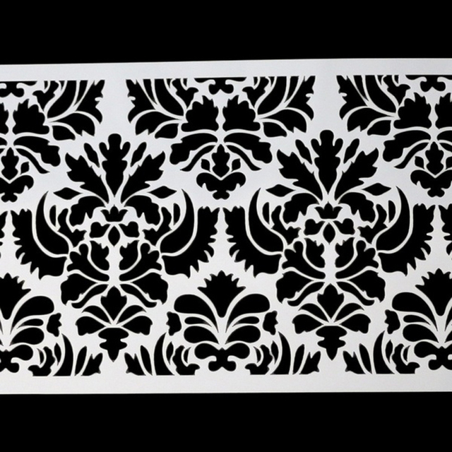 Plantilla de encaje de plumas de pavo real, pastel de boda de diseño de plantilla de plástico, plantilla de pintura, plantilla de decoración, botella de Fondant, herramientas para hornear