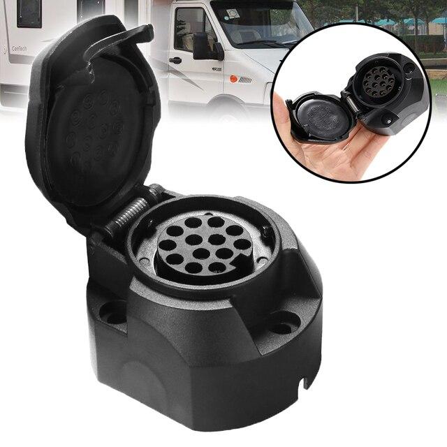 1PC 플라스틱 12V 13 핀 소켓 트레일러 Towbar 커넥터 자동차 밴 캐러밴 상업용 차량 RV 선박