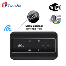 TIANJIE 4G Modem WiFi Tragbare Tasche Externe Antenne Port CRC9 Hotspot Router LTE Drahtlose Handy Entsperrt Mit Sim Karte slot
