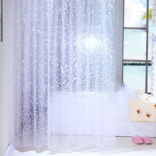 Shower Curtain Pebbles Waffles PEVA Waterproof and Mildewproof with 12 Hooks Bathroom Accessories 180x180cm Transparent(China)
