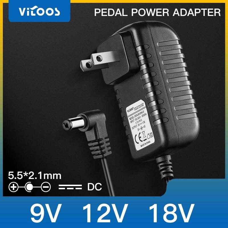 Vitoos адаптер питания педаль эффектов Гитара Бас питание центр отрицательный