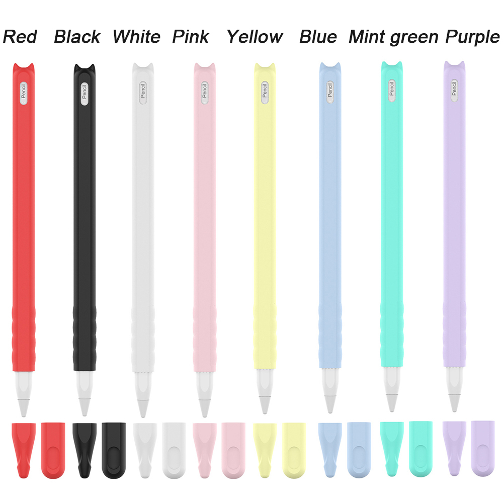 Protective Pouch Cap Holder Silicone Cover For Apple Pencil 2 Accessories Anti-scratch iPad Touch Screen Pen Case for Pencil 2nd