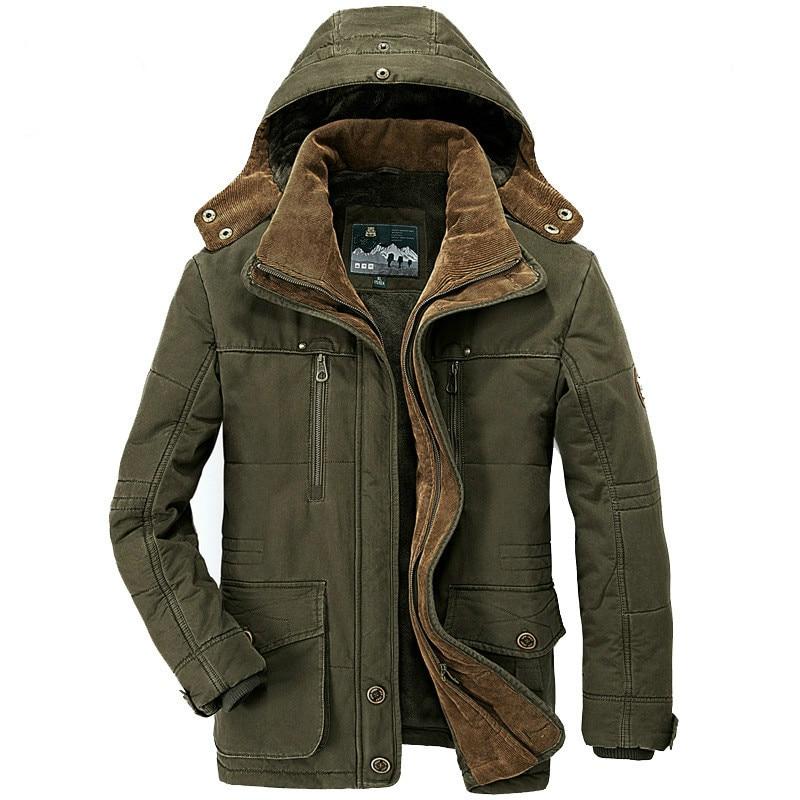 Brand Thick Winter Parkas Men Cotton Warm Jacket Men Plus SIze 5XL 6XL 7XL Casual Multi-Pocket Parkas Hombre Invierno