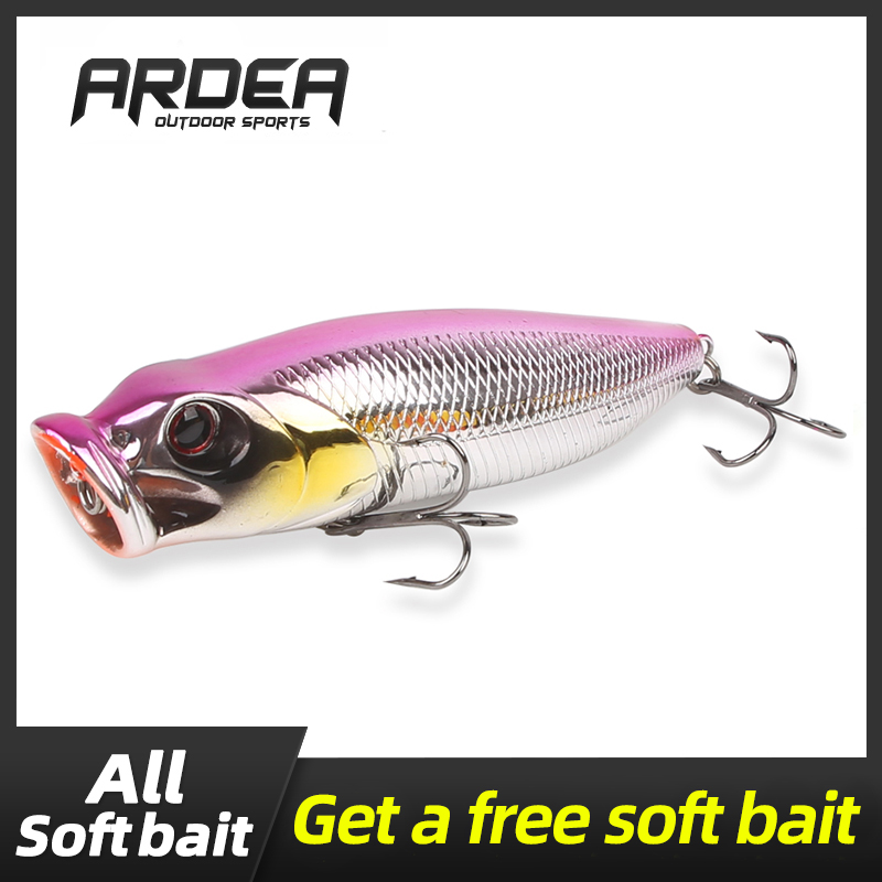 5x Hard Popper Fishing Lure Plastic Ultralight Saltwater Fishing Lure Crank Bait