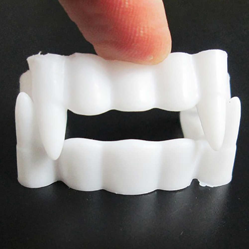 זוהר זומבי מפחידים מזויף שיניים ניבים שיניים תותבות אבזרי ליל כל הקדושים תלבושות אבזרי מסיבת טובות לזייף צעצוע ליל כל הקדושים ספקי צד
