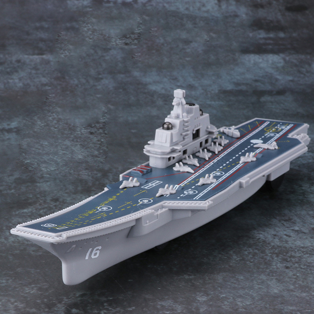 Electric Plastic Mini Aircraft Carrier Children Toy Model Birthday Gifts w/Light 2