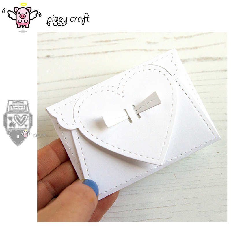 Piggy Craft metal cutting dies cut die mold 8Pcs Love envelope box Scrapbook paper craft album card punch knife art cutter die