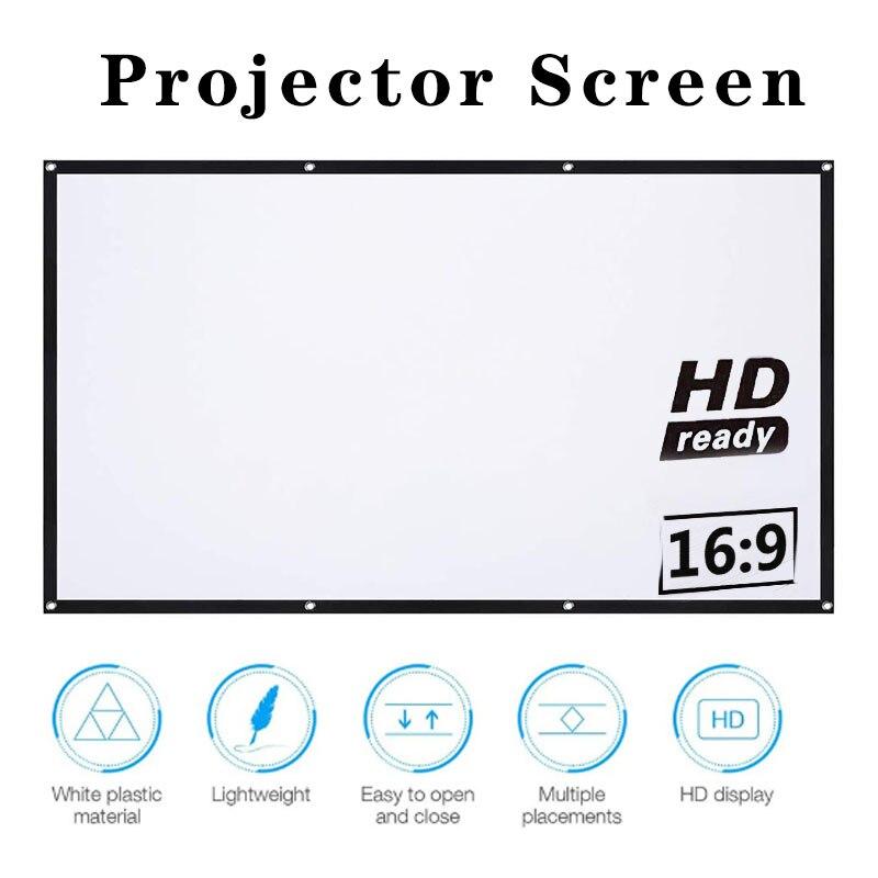 Экран Full HD для домашнего кинотеатра 16:9, 60 / 72 / 84 / 100 / 120 / 150 дюйма
