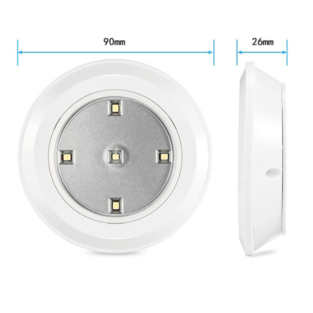 LED Dimmable  Under Cabinet night Light Battery Operated Puck Lighting Closets Lights with Remote Control for Wardrobe kitchen 2