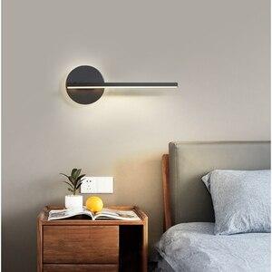 Image 4 - Lámpara de pared led para dormitorio, sala de estar, estudio, ajustable, decoración para el hogar, Blanco, Negro, acabado, 90 260V, novedad