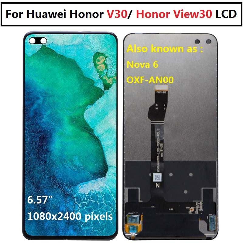 6.57'' For Huawei Honor V30 LCD Display Honor View30 Touch Screen Digitizer Assembly Replacement For Huawei View 30 LCD OXF-AN00