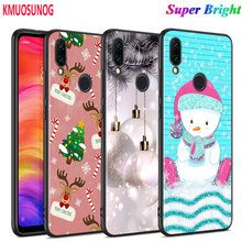 Black Silicone Cover New Year Gifts Christmas for Xiaomi Redmi Note 8 7 6 5 4X 4 K20 Pro 7A 6A 6 S2 5A Plus Phone Case black silicone cover new year gifts christmas for xiaomi redmi note 8 7 6 5 4x 4 k20 pro 7a 6a 6 s2 5a plus phone case