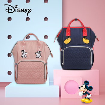 Disney USB Diaper Bag Baby Backpack Mummy Fashion Maternity Nappy Large Capacity Stroller