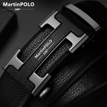 MartinPOLO Mens Belts Luxury Automatic Buckle Genune Leather Strap Black for Mens Belt Designers Brand High Quality MP02801P