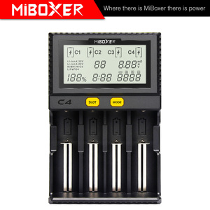 Image 2 - MiBoxer C4 Battery Smart Charger Double AA Max 2.5A/Slot Super Fast 18650 14500 26650 Charger discharge Charge function