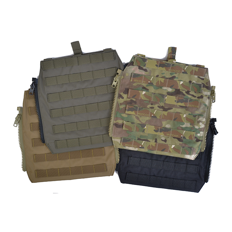Delustered Crye CP MOLLE Zip-On Panel For JPC CPC AVS Military Molle Zipper Pack Tactical Pouch Bag 500D Cordura TW-P044
