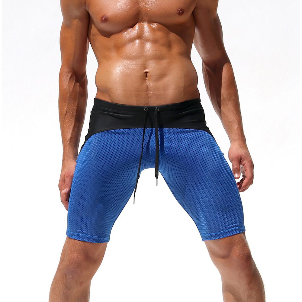 Europe And America New Style Trunks Sexy Men Breathable Mesh Cloth Shorts Mixed Colors Beach Shorts Surfing Swimming Trunks