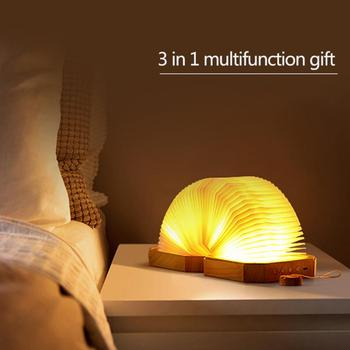 Bluetooth 4,0 Mini magnético al aire libre portátil Audio decoración plegable HD altavoz inalámbrico luz nocturna para el hogar Led regalo Universal