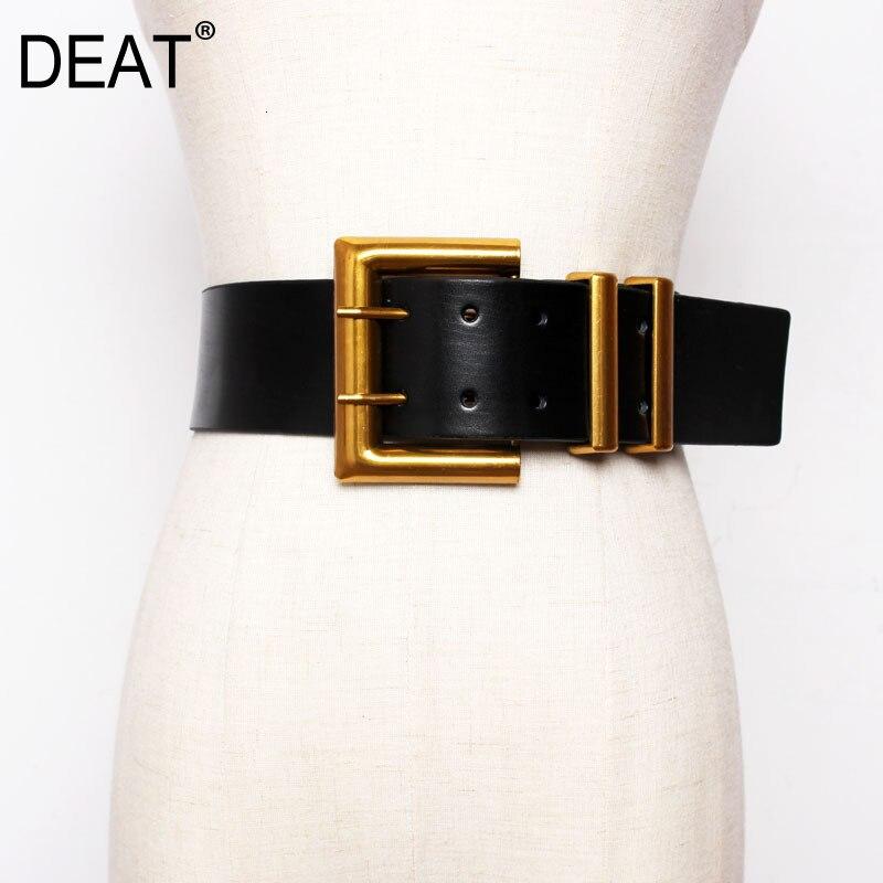 DEAT 2021 New Autumn Trendy Wid Belt per donna solido Casual moda cintura fibbia in metallo selvaggio cintura corsetto in pelle Femalee