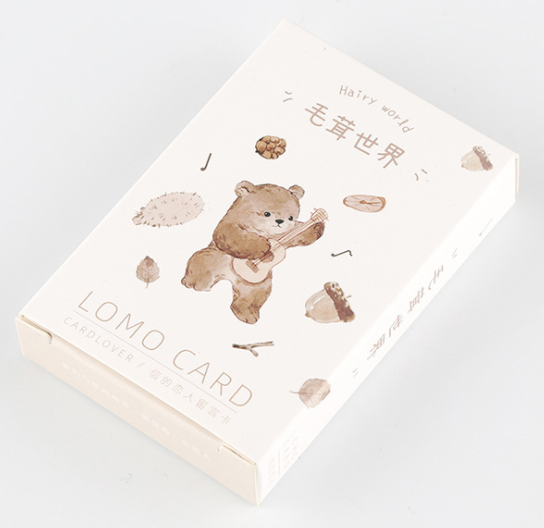 L58- Bear World Paper Greeting Card Lomo Card(1pack=28pieces)
