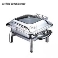 220v Elektrische heizung runde Buffet herd Restaurant Quadrat lebensmittel Isolierung ofen Kommerziellen edelstahl buffet herd 400w
