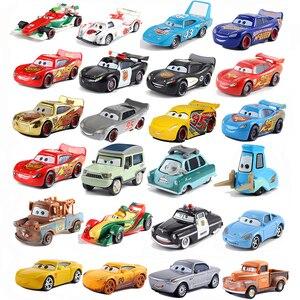 Disney Pixar Car 2 3 Model Lightning McQueen Matt Jackson Storm Ramirez 1:55 Diecast Car Metal Alloy Cars 3 Disney Gift