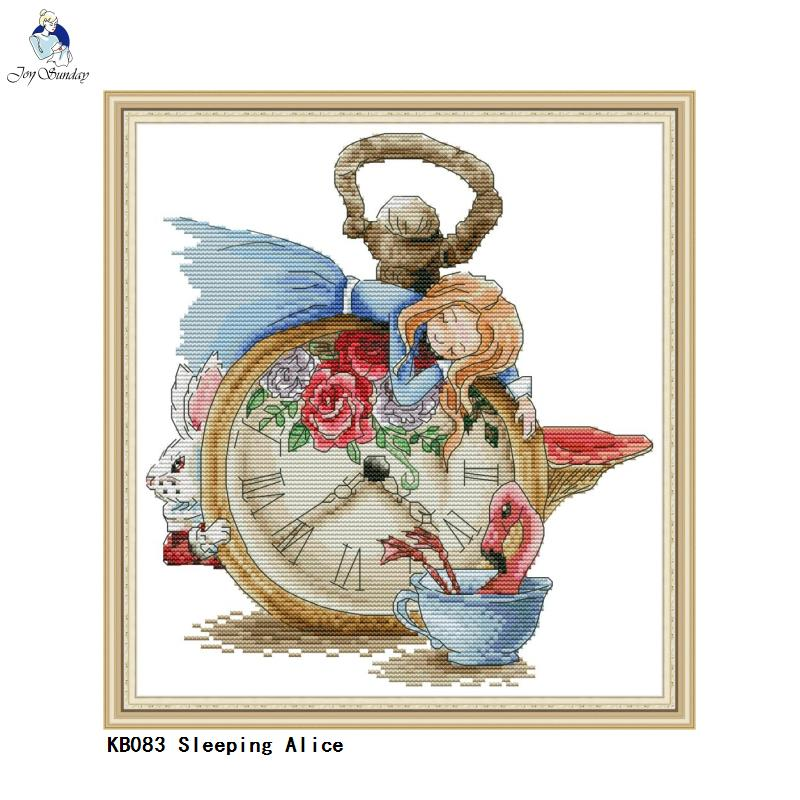 Joy Sunday DIY Handmade Needlework, Cross Stitch Embroidery Kits, Sleeping Alice Patterns Counted Cross-Stitch Home Decor