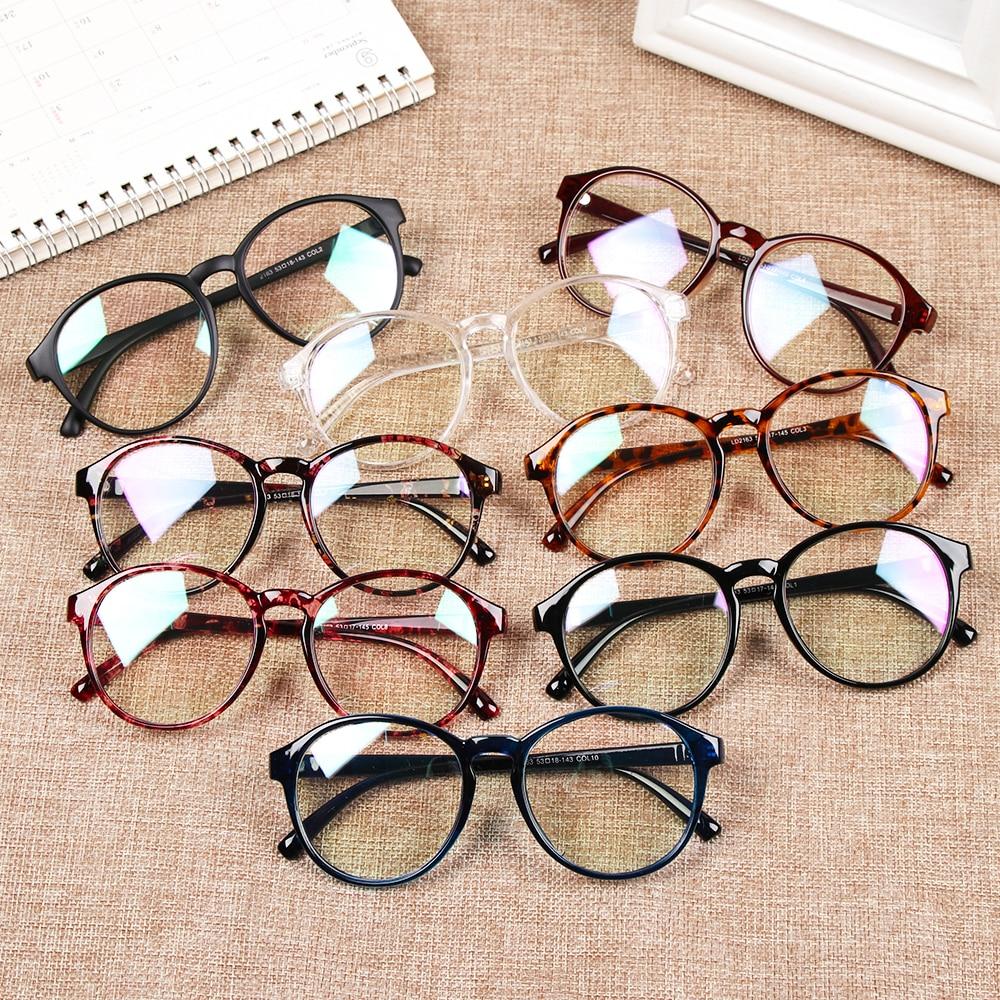 New Fashion 1Pcs Glasses Frame For Women Vintage Clear Frame Round Eye Glasses Female Plastic Transparent Optical Glasses Frames