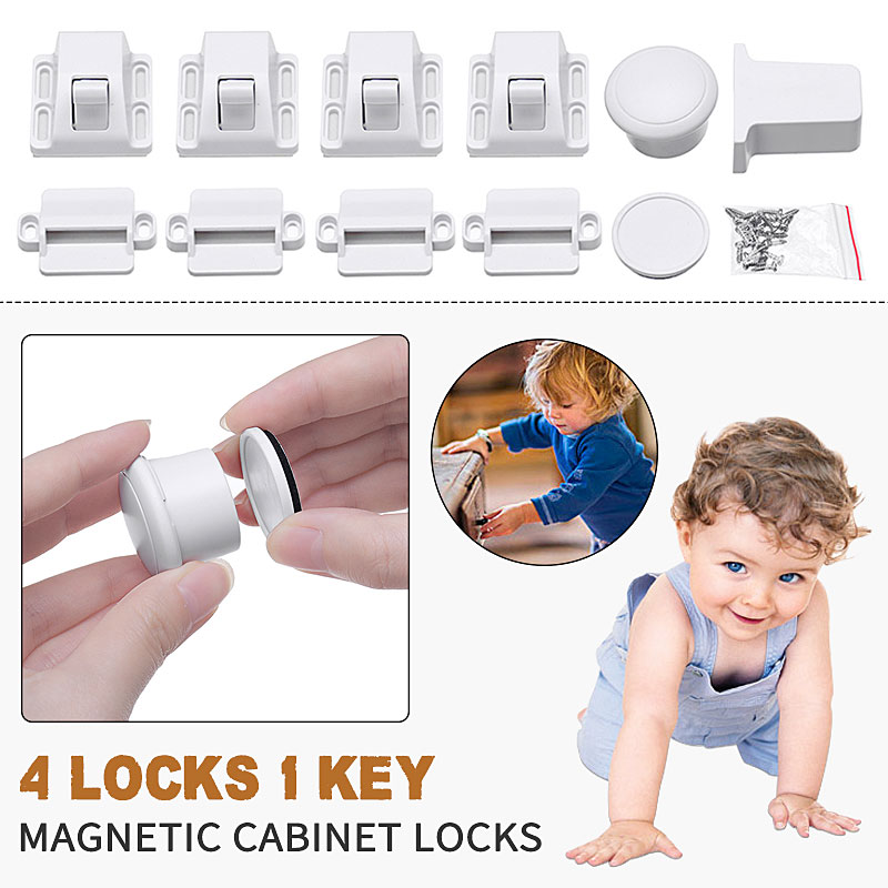 Magnetic Child Lock Children Safety Baby Protections Cabinet Door Lock Kids Wardrobe Drawer Locker Security  Locks