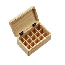 Wooden Essential Oil Box organizer 10ML 15 Compartments Essential Oil Bottle Storage Box for essential oils