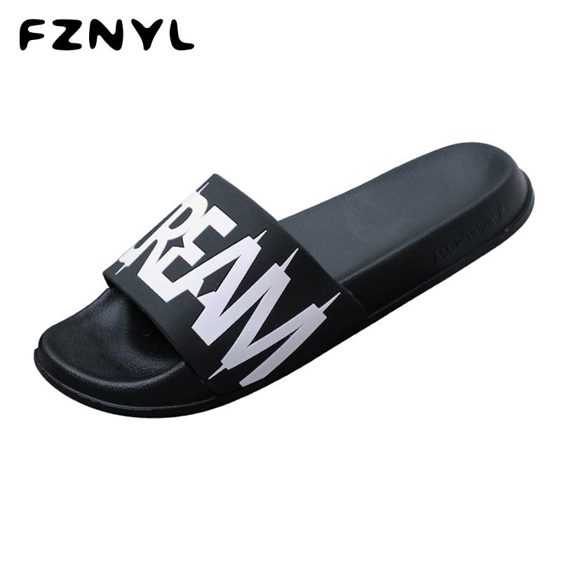 FZNYL Slippers Women Men Shoes Sandals Summer Beach Flip Flops Flat Non-slip Outdoor Indoor Casual Slides 2019 Big Size 36-45