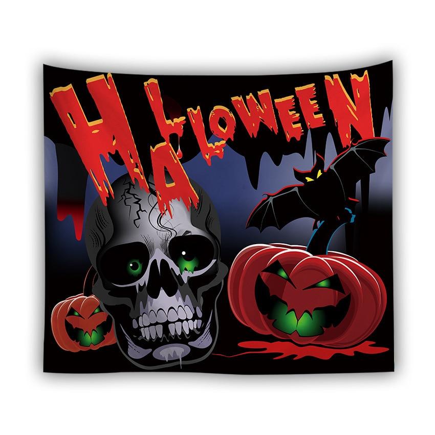 Серия Хэллоуин настенный гобелен из ткани корзинка для Хэллоуина Ужасный Призрак напечатанный настенный гобелен Grand скатерть вечерние украшения - Цвет: color5