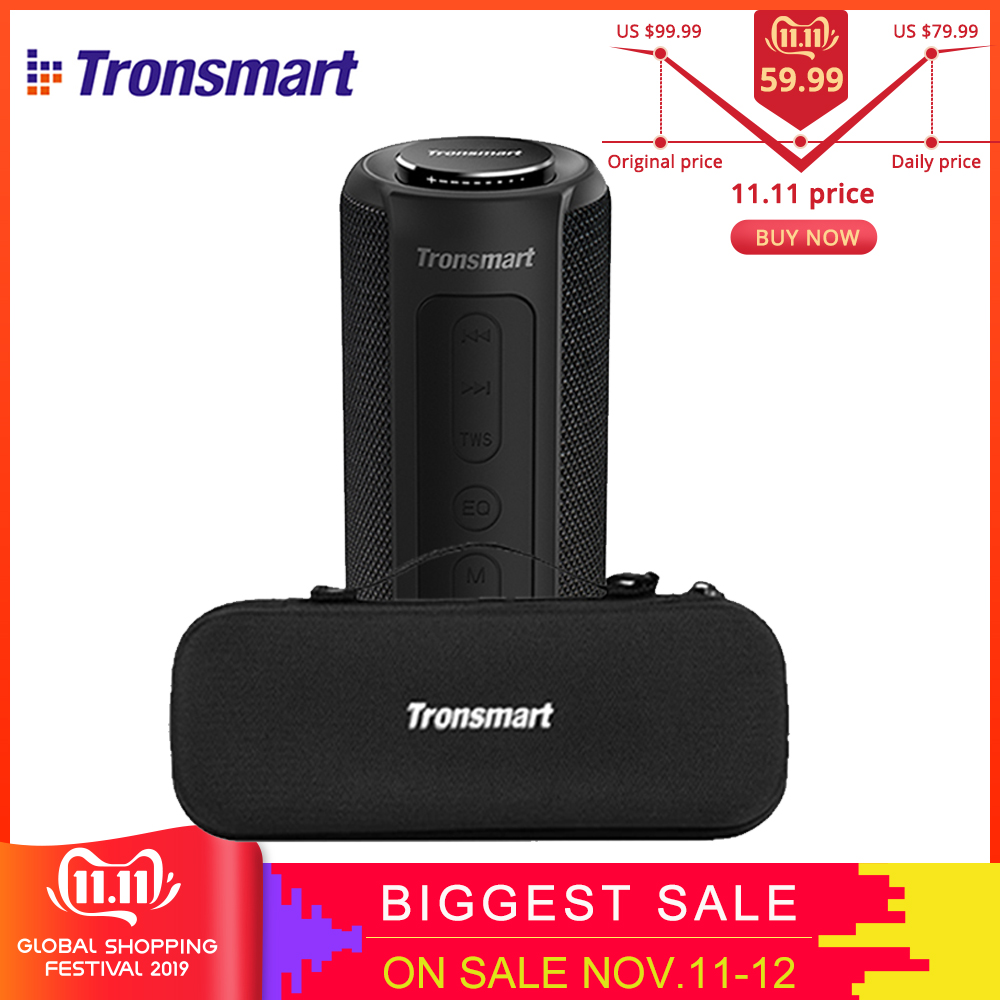 Original NEW Tronsmart Element T6 Plus 40W TWS SD TF Portable Bluetooth Speaker IPX6 Waterproof outdoor portable mini