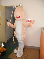 Classic Version light pink Shrimp Mascot Costume Adult Halloween Birthday party cartoon Apparel Cosplay Costumes