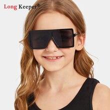 Квадратные Детские corlorful солнцезащитные очки для девочек