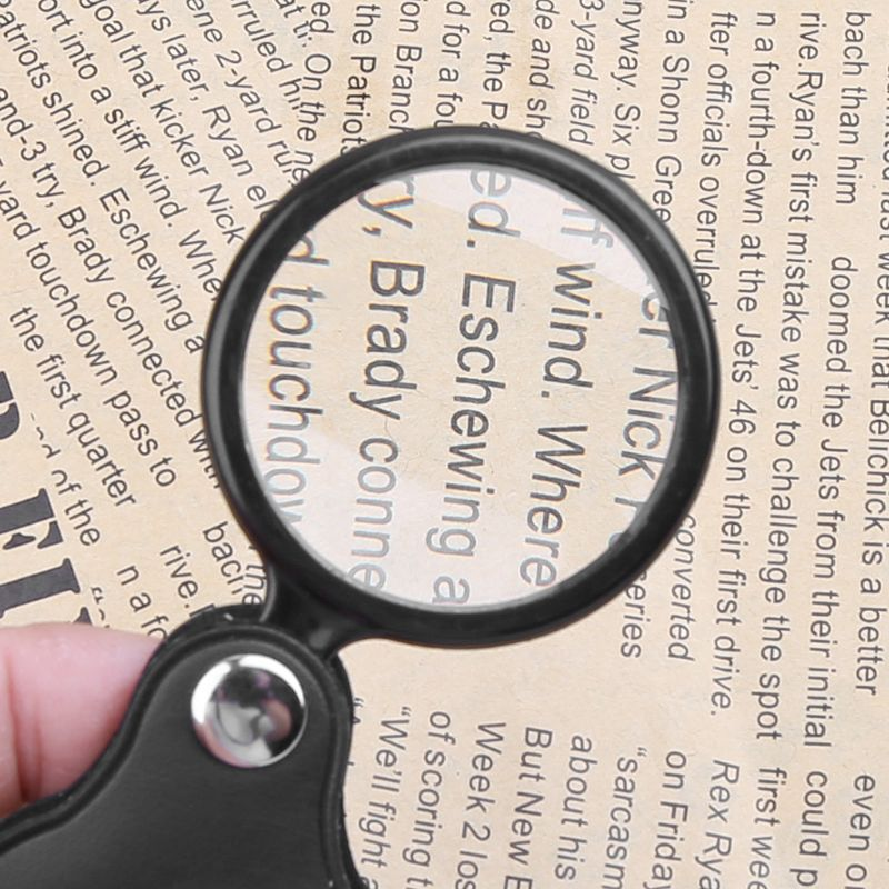 5X 40mm Portable Mini Magnifier Foldable Reading Jewelry Magnifying Glass Loupe L69A