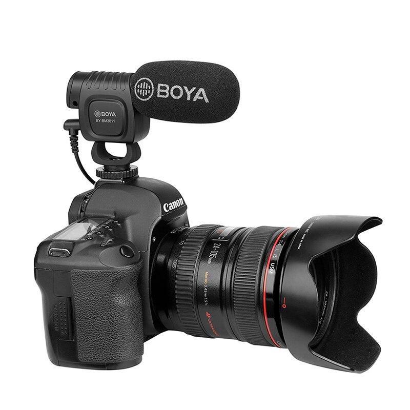 Boya BY-BM3011 на камеру кардиоидный конденсаторный микрофон аудио видео микрофон для Canon Nikon DSLR PC смартфон живое потоковое Vlog