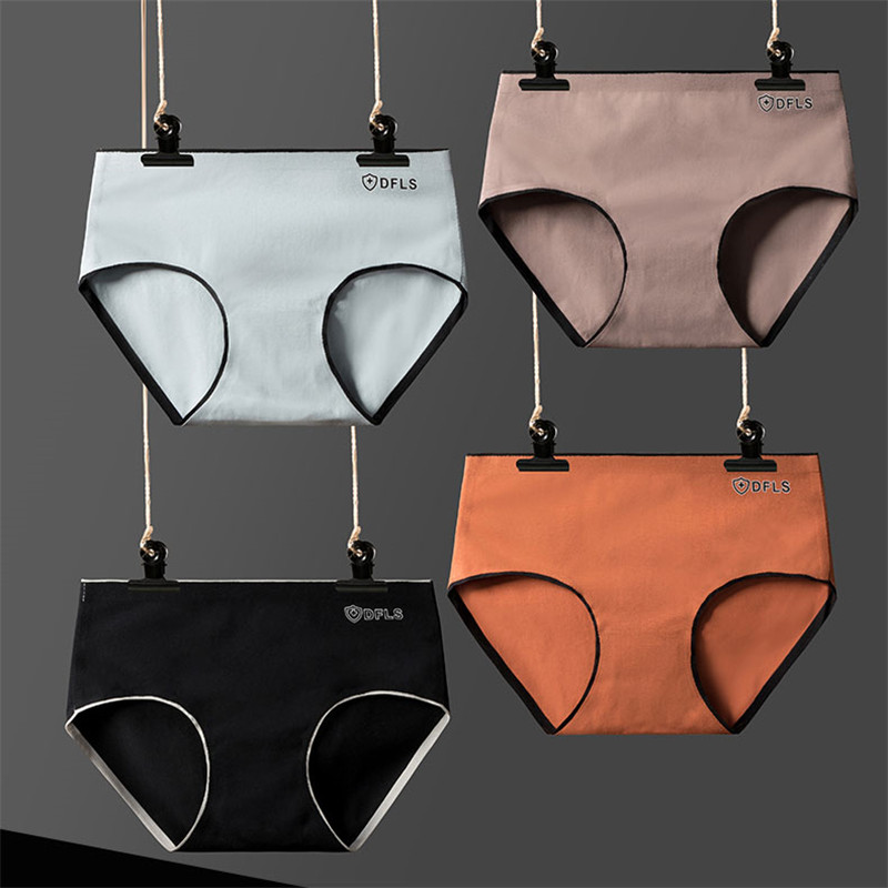 4PCS/lot Women Underpants Cotton Briefs Panties Female Lingerie Solid Color Underwear Girls Soft Panty M-2XL New Arrival