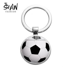 SIAN Sports, металлический брелок для ключей в форме баскетбольного мяча, футбольного клуба, брелок с серебряным покрытием для мужчин и мальчико...