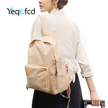 Yeqofcd Cation Backpack For Women Foldable Schoolbag Zipper Waterproof Knapsack Female Student Shoulder Bag Travel Bags Unisex