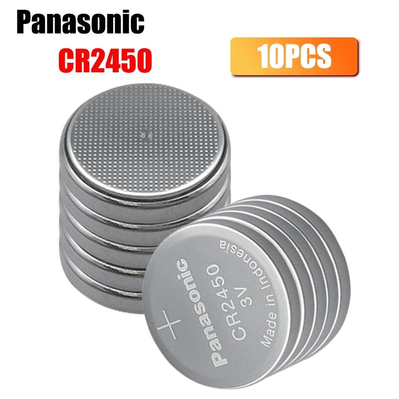 10 шт. Panasonic 3V 550mAh литий-ионный аккумулятор часы CoCells Кнопка батарея CR2450 DL2450 BR2450 LM2450 KCR5029 сваи бутон