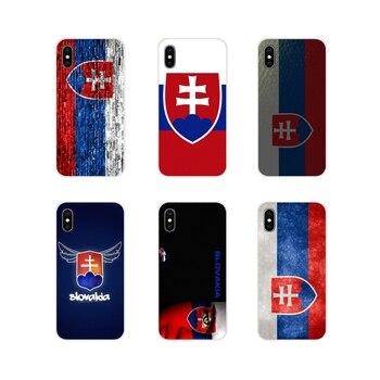 Eslovaca Bandera de Eslovaquia para Huawei G7 G8 P7 P8 P9 P10 P20 P30 Lite Mini Pro P Smart Plus 2017 2018 2019 suave transparente Shell caso