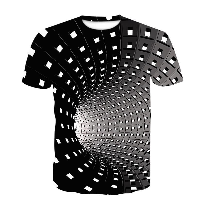 New Swirl Short Sleeve T-shirt Summer Men's T-shirt Men's Casual Top 3DT-Shirts  Fashion O-Neck Shirt Large Size Streetwear